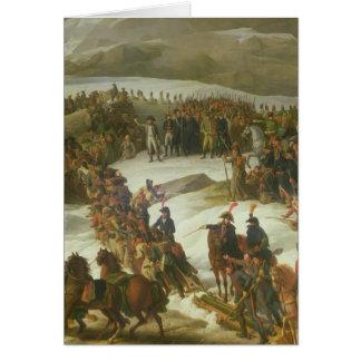 サンベルナール峠のパスを交差させているフランスのな軍隊 カード