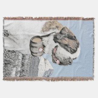 サンベルナール峠の絵画-かわいい元の犬の芸術 スローブランケット