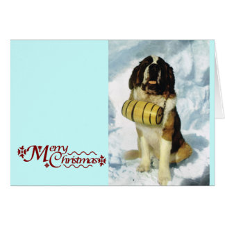 サンベルナール峠犬、山の救助 カード