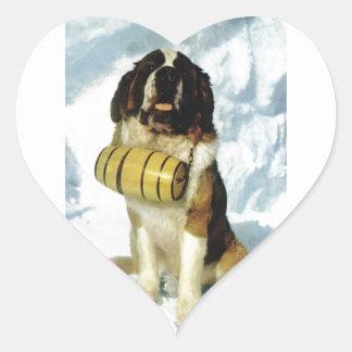 サンベルナール峠犬、山の救助 ハートシール