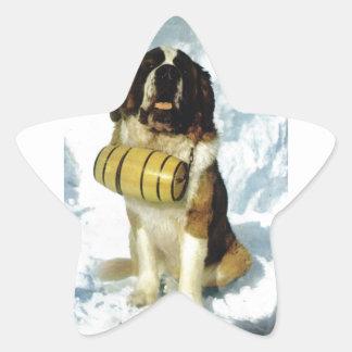 サンベルナール峠犬、山の救助 星シール