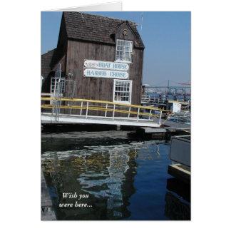 サンペドロのボートハウスカードを恋しく思います カード
