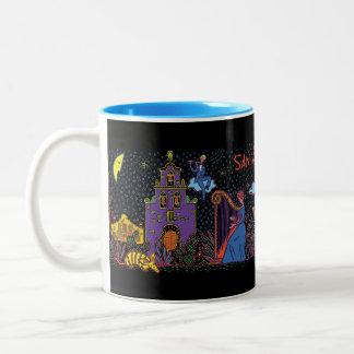 サン・アントニオのセレナーデのコーヒー・マグ ツートーンマグカップ