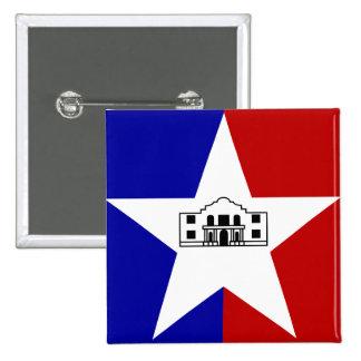 サン・アントニオの旗 5.1CM 正方形バッジ