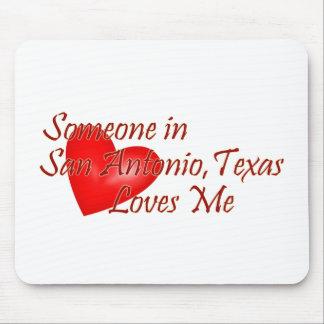 サン・アントニオテキサス州の誰かは私を愛します マウスパッド