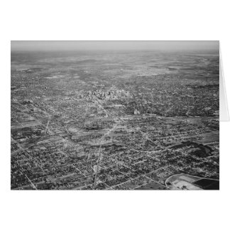 サン・アントニオ1939年の空中写真 ノートカード