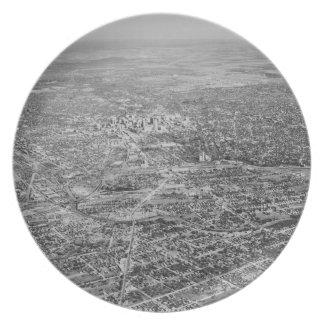 サン・アントニオ1939年の空中写真 パーティー皿