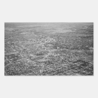 サン・アントニオ1939年の空中写真 長方形シール