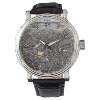 サン・アントニオ、テキサス州1873年の旧式な空気都市地図 腕時計