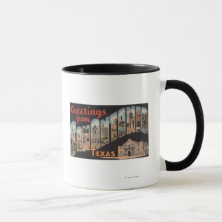サン・アントニオ、テキサス州-大きい手紙場面 マグカップ