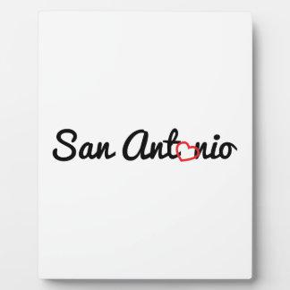 サン・アントニオ 表示プリントプレート