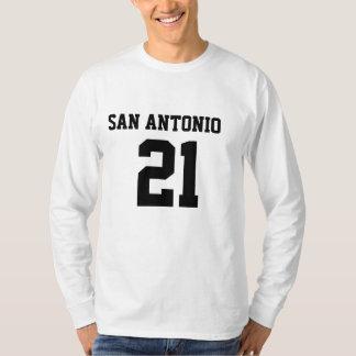 サン・アントニオ#21の人の基本的なLongsleevesのTシャツ Tシャツ