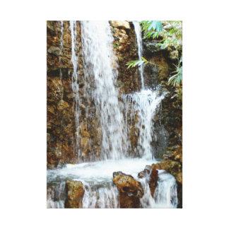 サン・アントニオRiverwalkの滝 キャンバスプリント