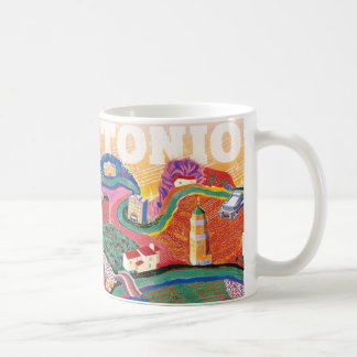 サン・アントニオSoundscape - Hockneyへの尊敬 コーヒーマグカップ