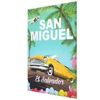 サン・ミゲルエルサルバドルのヴィンテージ旅行ポスター キャンバスプリント