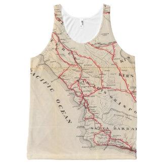 サンBenito、フレズノ、モンテレー、San Luis Obispo オールオーバープリントタンクトップ