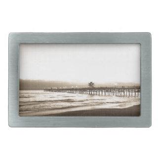 サンClemete桟橋カリフォルニアビーチのヴィンテージの写真 長方形ベルトバックル