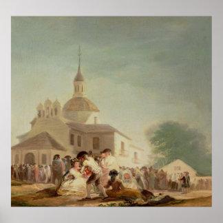 サンIsidro、マドリード1788年の隠者の住処 ポスター
