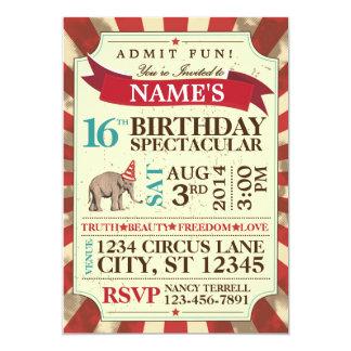 サーカスのパーティの招待状 カード