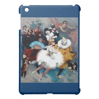 サーカスのヴィンテージポスターバレリーナはtrapezの後をつけます iPad miniカバー