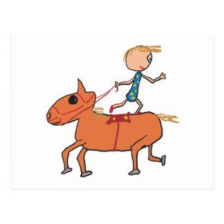 サーカスの乗馬 ポストカード