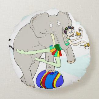 サーカスの女の子の円形の枕 ラウンドクッション