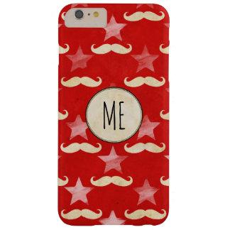 サーカスの星および口ひげが付いている赤いiPhoneの箱 Barely There iPhone 6 Plus ケース