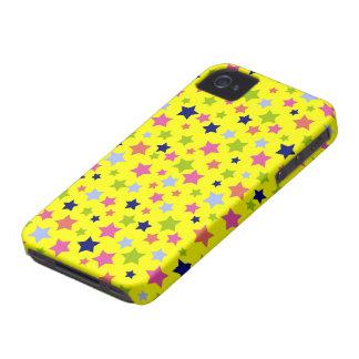 サーカスの星パターン-明るい黄色 Case-Mate iPhone 4 ケース