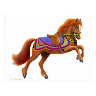 サーカスの馬の郵便はがき ポストカード