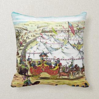サーカスパレード-ヴィンテージのサーカスの芸術の枕 クッション