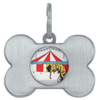 サーカス象を記念してサーカスの記念品 ペットネームタグ