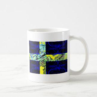 サーキットボードスウェーデン(旗) コーヒーマグカップ