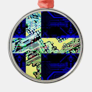 サーキットボードスウェーデン(旗) メタルオーナメント