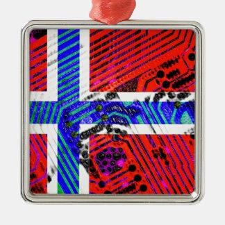 サーキットボードノルウェー(旗) メタルオーナメント