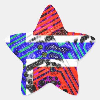 サーキットボードノルウェー(旗) 星シール