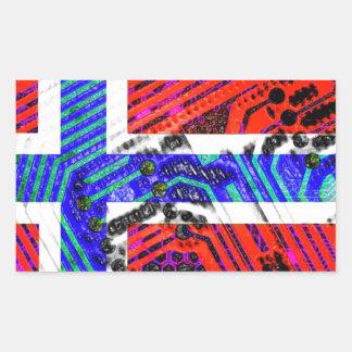 サーキットボードノルウェー(旗) 長方形シール
