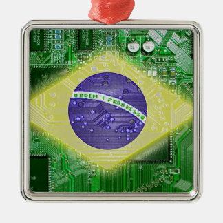 サーキットボードブラジル メタルオーナメント