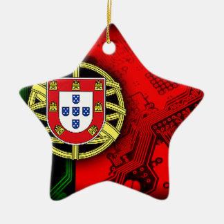 サーキットボードポルトガル(旗) セラミックオーナメント