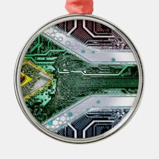 サーキットボード南アフリカ共和国(旗) メタルオーナメント