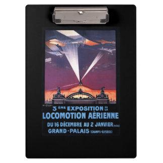 サーチライトポスター上の平らな飛行 クリップボード