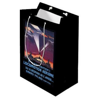 サーチライトポスター上の平らな飛行 ミディアムペーパーバッグ
