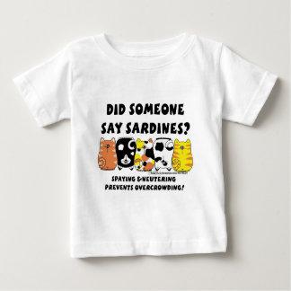 サーディン猫 ベビーTシャツ