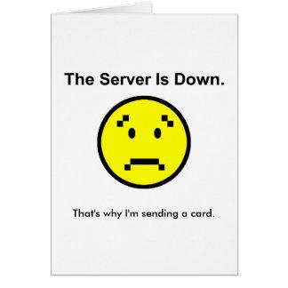 サーバーはあります グリーティングカード