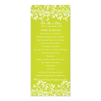 サービスのサラジェーンのライムグリーン及び白の順序 カード