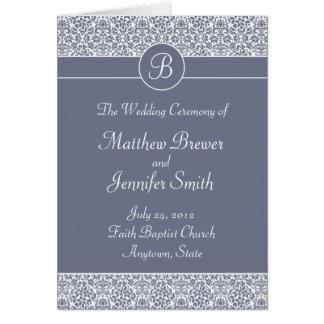 サービスカードの結婚式プログラムそして順序 カード