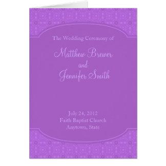 サービスカードの結婚式プログラムそして順序 グリーティングカード