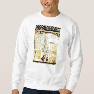 サービスニューヨーク市民1936年のポスターの歴史 スウェットシャツ
