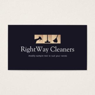 サービスロゴをきれいにする家の洗剤の金ゴールド 名刺