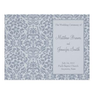 サービス及び式プログラムの灰色の結婚式の順序 チラシ