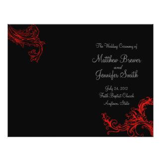 サービス及び式プログラムの黒い結婚式の順序 チラシ